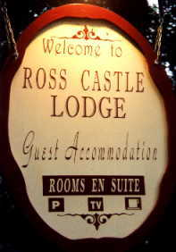 ross castle sign